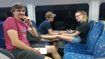 Taking the subway to see the Sydney Harbour.